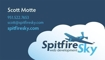 Spitfire Sky Business Cards